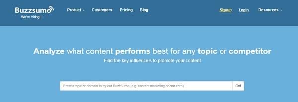 Buscador Buzzsumo crear mejores contenidos blog