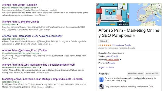 busqueda pack local en google alfonsoprim.es