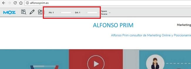 Autoridad de dominio alfonsoprim.es