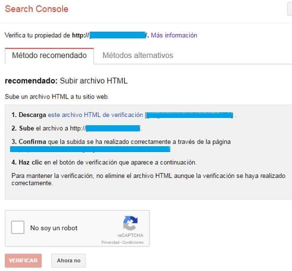 titulos atractivos para tu blog verificacion search console