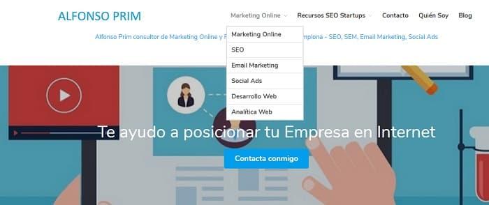 menús seo web alfonsoprim.es